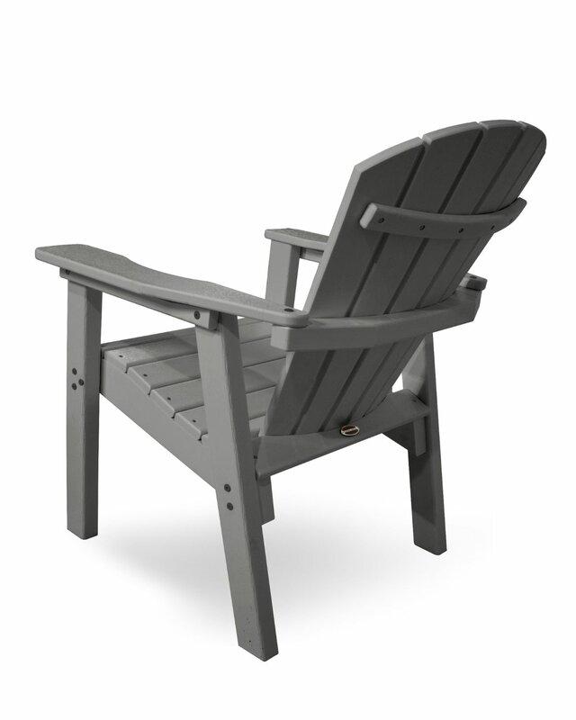 Seashell Casual Plastic Adirondack Chair