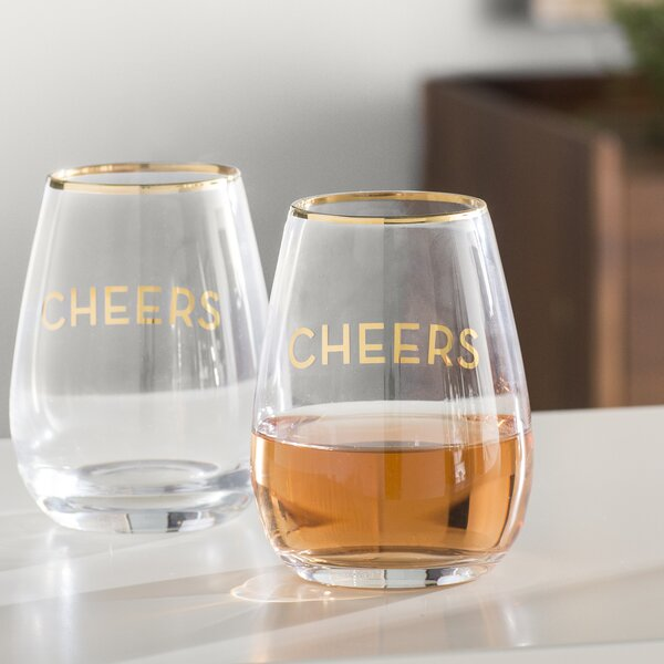 Jaime Cheers 16 Oz. Liqueur Glass (Set of 2) by Langley Street