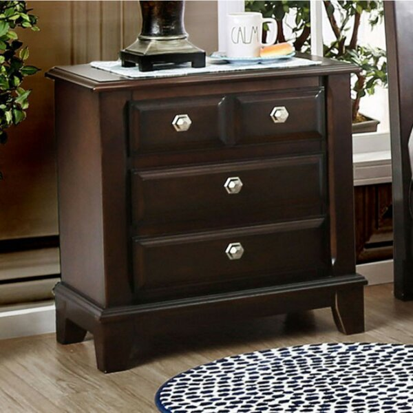 Cheryle 3 Drawer Nightstand by Darby Home Co
