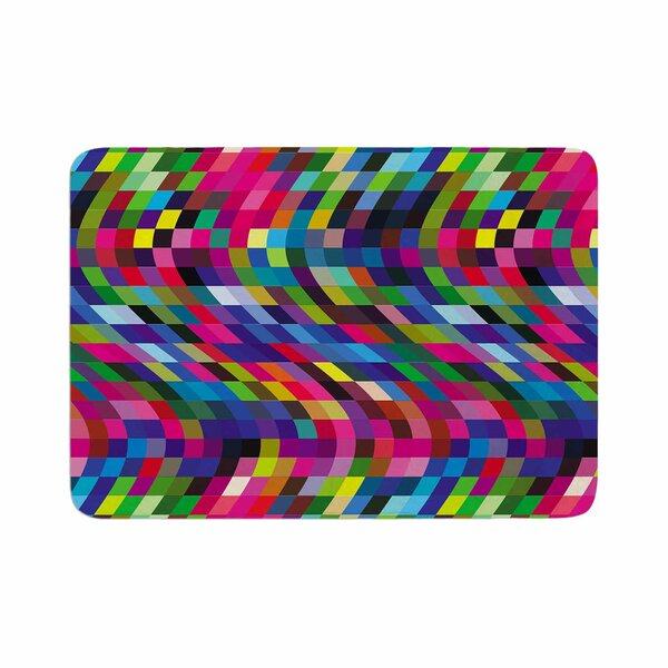 Dawid Roc Colorful Geometric Movement 1 Abstract Memory Foam Bath Rug by East Urban Home