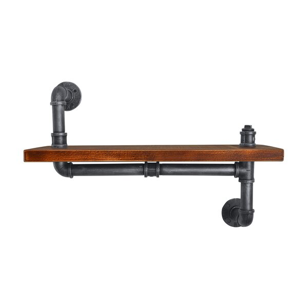 Cimino Industrial Floating Pipe Wall Shelf by 17 Stories