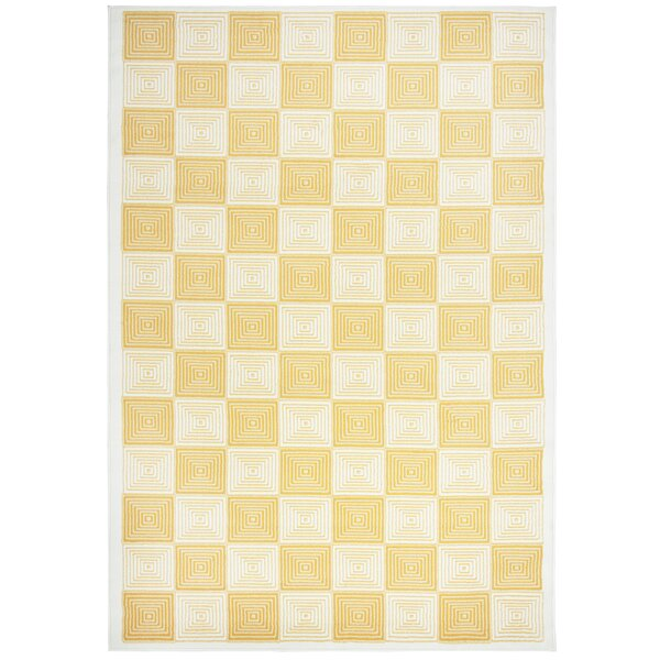 Bowman Gold/Ivory Indoor/Outdoor Area Rug by Wrought Studio