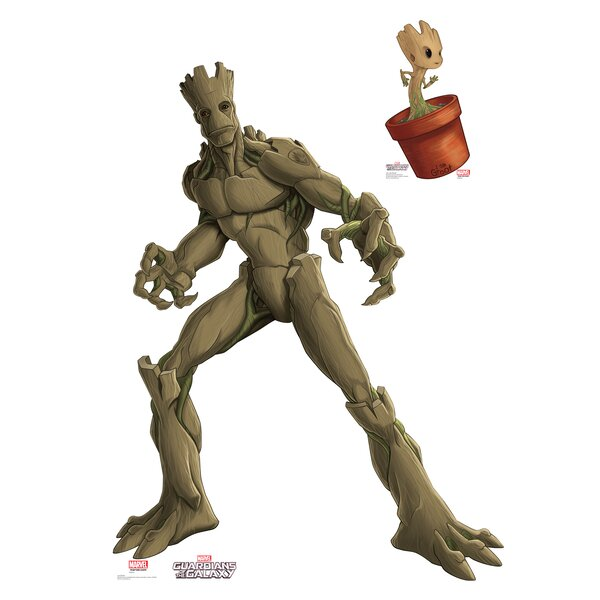Guardians of the Galaxy Groot and Little Groot from the Animated Life Size Cardboard Cutout by Advanced Graphics