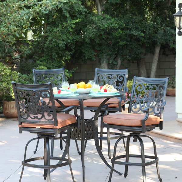 Mccraney 5 Piece Bar Height Dining Set with Cushions by Astoria Grand