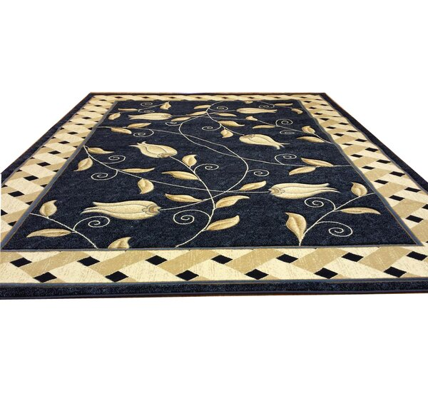 Hand-Carved Blue Area Rug by Rug Tycoon