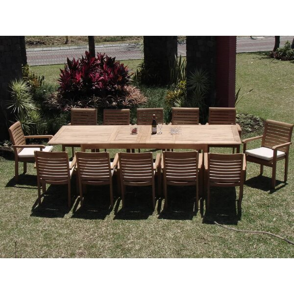 Aron Luxurious 11 Piece Teak Dining Set by Rosecliff Heights