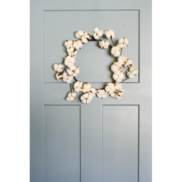 Faux Cotton Ball 16 Wreath by Gracie Oaks