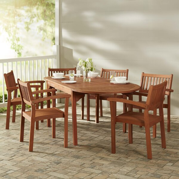 Monterry 7 Piece Wood Dining Set by Beachcrest Home