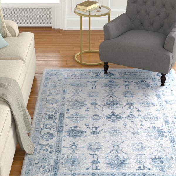 Broadview Navy Area Rug by Alcott Hill