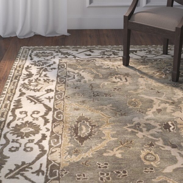 Colliers Hand-Tufted Gray/Cream Area Rug by Astoria Grand
