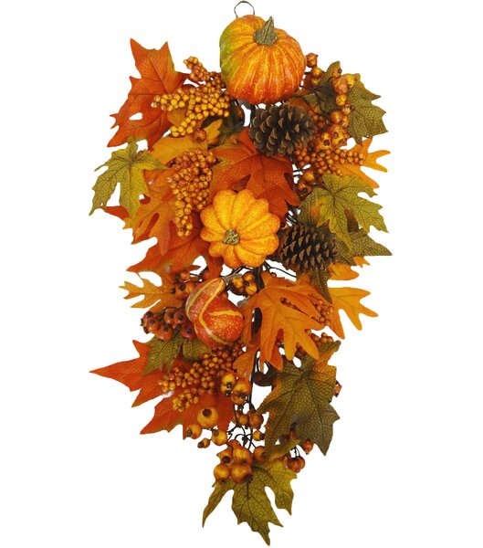 Fall Harvest Door Swag by Floral Home Decor
