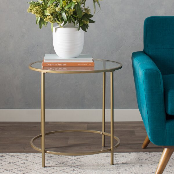 Casanova End Table By Mercury Row.