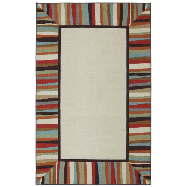 Albany Patio Border Rainbow Outdoor Machine Woven Area Rug by Red Barrel Studio