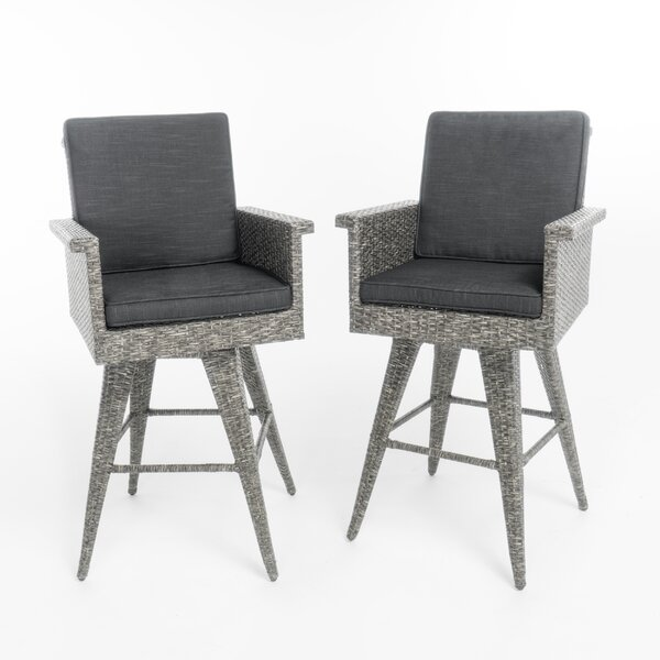 Washington Bar Stool (Set of 2) by Rosecliff Heights