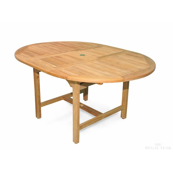Extension Extendable Teak Dining Table by Regal Teak