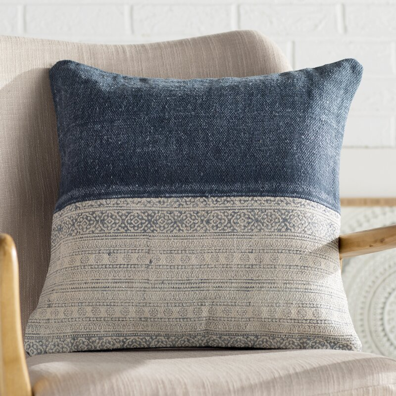 Friedman Patchwork Cotton Throw Pillow