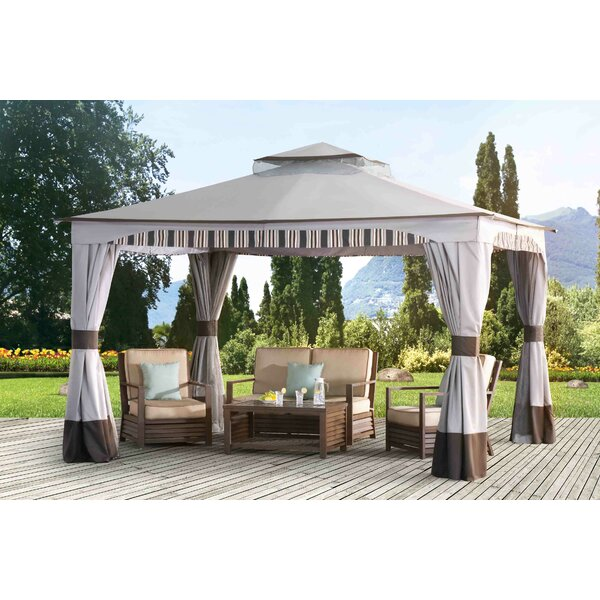 Graypointe 12 Ft. W x 10 Ft. D Metal Patio Gazebo by Sunjoy