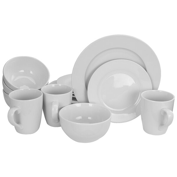 16 Piece Dinnerware Set, Service for 4 by Gracious Dining
