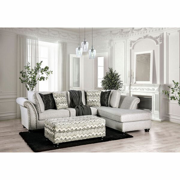 Marine Right Hand Facing Sectional with Ottoman by Canora Grey