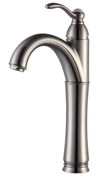 Vessel Mixer Single Hole Bathroom Faucet with Optional Pop Up Drain by Kraus
