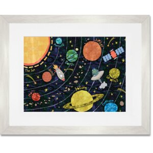 Super Solar System by Alice Feagan Framed Art by Oopsy Daisy