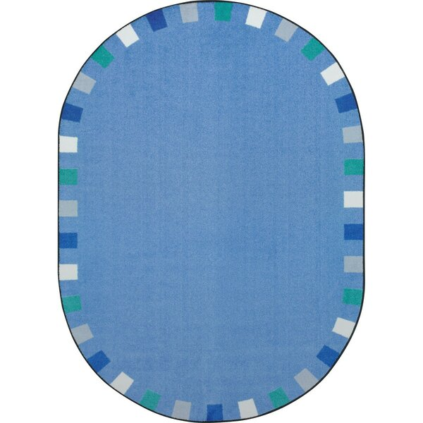 Alpinia on the Border Blue Area Rug by Zoomie Kids