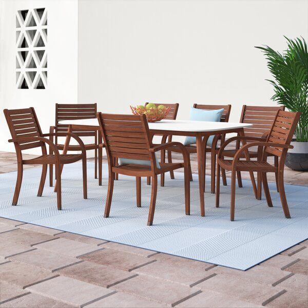 Frye Patio 9 Piece Dining Set by Beachcrest Home