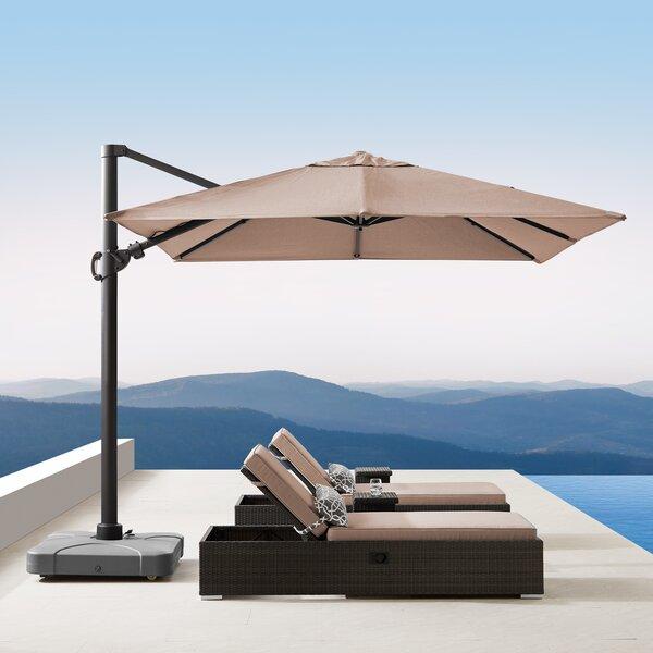 Bridgnorth 10' Square Cantilever Sunbrella Umbrella By Freeport Park by Freeport Park 2020 Sale