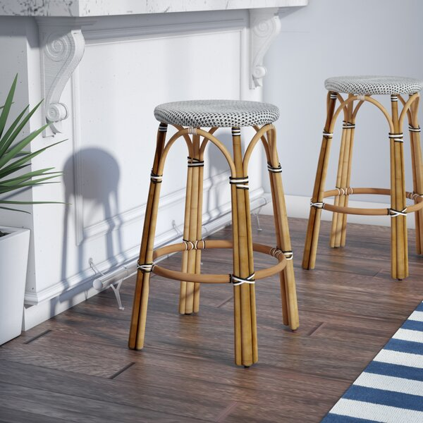 Campbellton  point Rattan 30 Bar Stool by Beachcrest Home