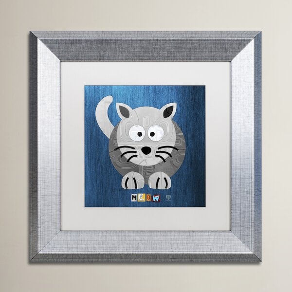 Traci Meow The Cat by Design Turnpike Vertical Framed Art by Zoomie Kids