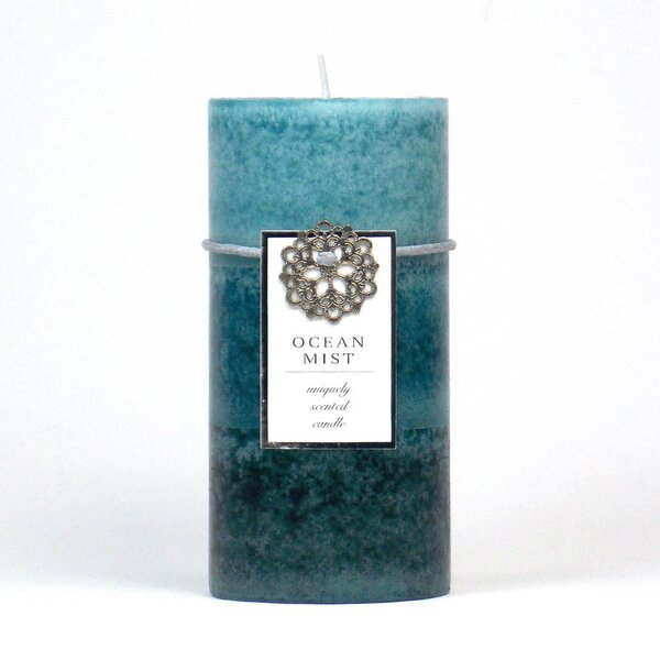 Ocean Mist Scented Pillar Candle by Highland Dunes
