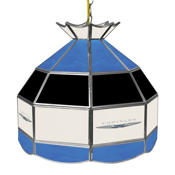 Chrysler Stained Glass 1-Light Pool Table Lights Pendant by Trademark Global
