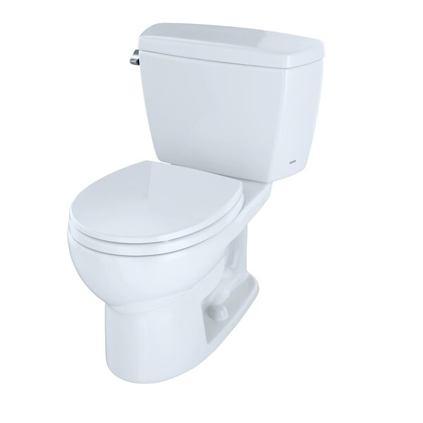 Drake 1.6 GPF Round Two-Piece Toilet (Seat Not Included) by Toto