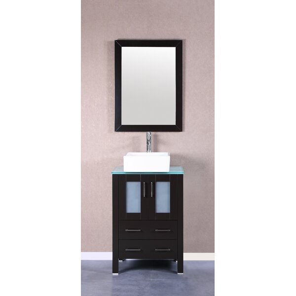 Arezzo 24 Single Bathroom Vanity Set with Mirror by Bosconi