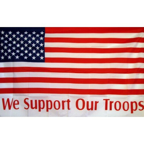 We Support Our Troops USA Traditional Flag by NeoPlex