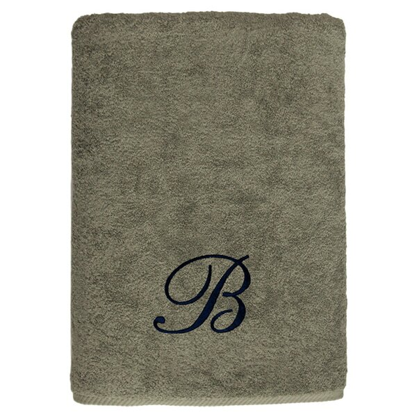 Personalized Soft Twist Bath Sheet in Light Olive by Linum Home Textiles