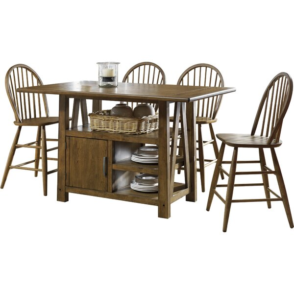Claybrooks 5 Piece Counter Height Dining Set by Gracie Oaks