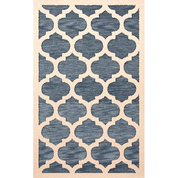 Bella Machine Woven Wool Blue/Beige Area Rug by Dalyn Rug Co.