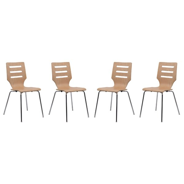 Celia Stacking Patio Dining Chair (Set of 4) by Orren Ellis