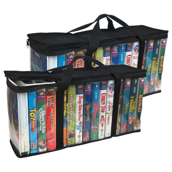 VHS Tapes Multimedia Tabletop Storage (Set of 4) by Evelots
