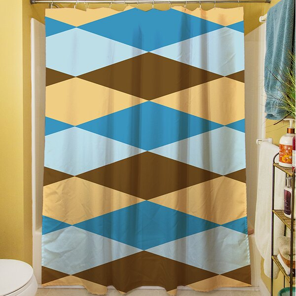 Bold in Blue Argyle Shower Curtain by Manual Woodworkers & Weavers
