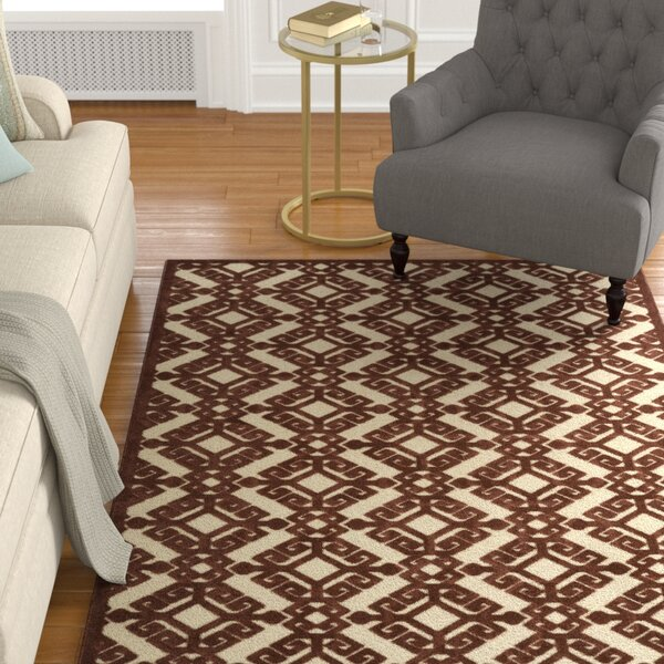 Covedale Terracotta Indoor/Outdoor Area Rug by Charlton Home