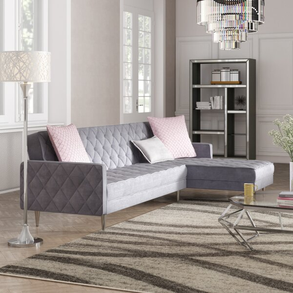 Daughtrey Reversible Sleeper Sectional by Mercer41