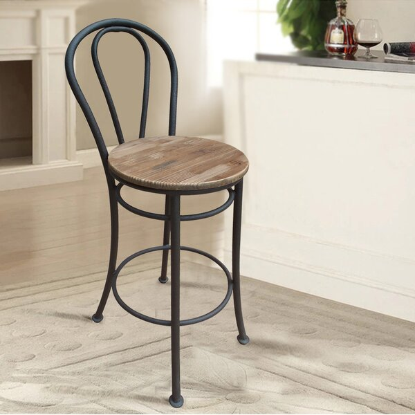 French 29 Bar Stool (Set of 2) by Lux Home