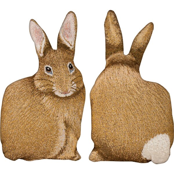 Hare Raising Shaped Pillow by Manual Woodworkers & Weavers