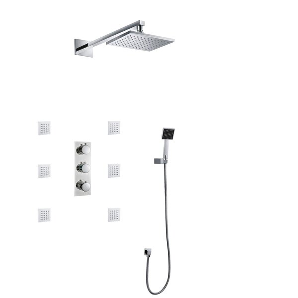 Color Changing LED Thermostatic Complete Shower System With Rough-in Valve By FontanaShowers