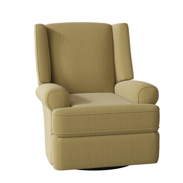 Keya Wingback Swivel Glider Recliner [Red Barrel Studio]