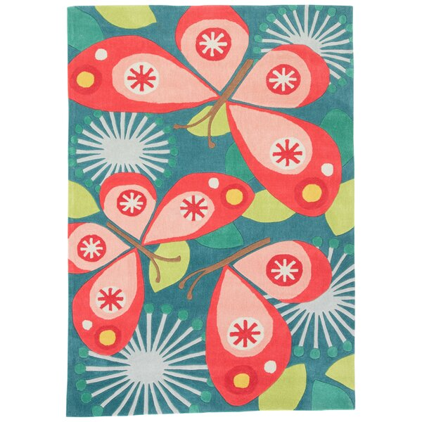 Annie Hand-Tufted Blue/Pink Area Rug by Viv + Rae