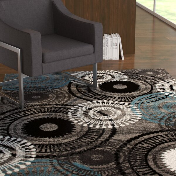 Allison Gray/Blue Area Rug by Ebern Designs