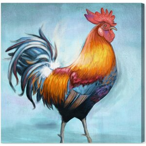 Spring Rooster II Graphic Art on Wrapped Canvas by August Grove